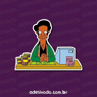 Adesivo do Apu Simpsons