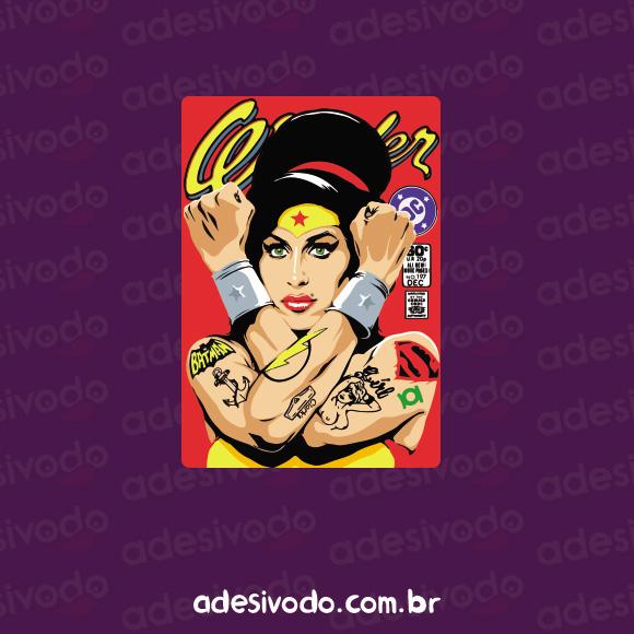 Adesivo da Amy Winehouse Wonder Woman
