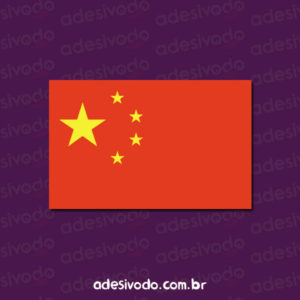 Adesivo da Bandeira da China