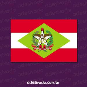Adesivo da bandeira de SC