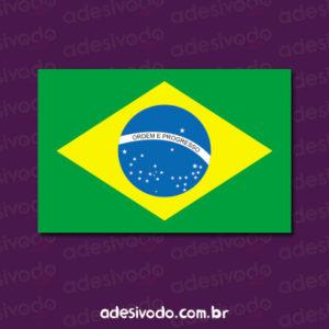 Adesivo da bandeira do Brasil