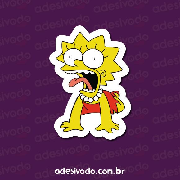Adesivo da Lisa Simpson sufocando