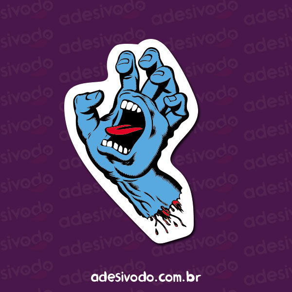 Adesivo da Mão Azul Santa Cruz