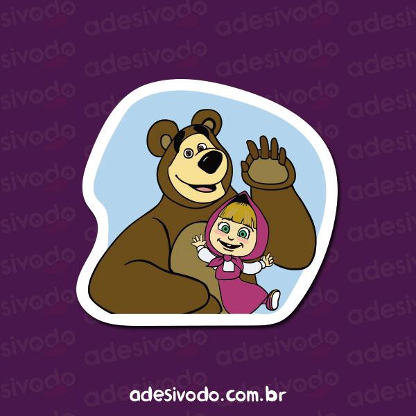 Adesivo da Masha e o Urso