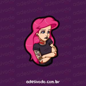 Adesivo da Princesa Ariel tatuada (Pequena Sereia)