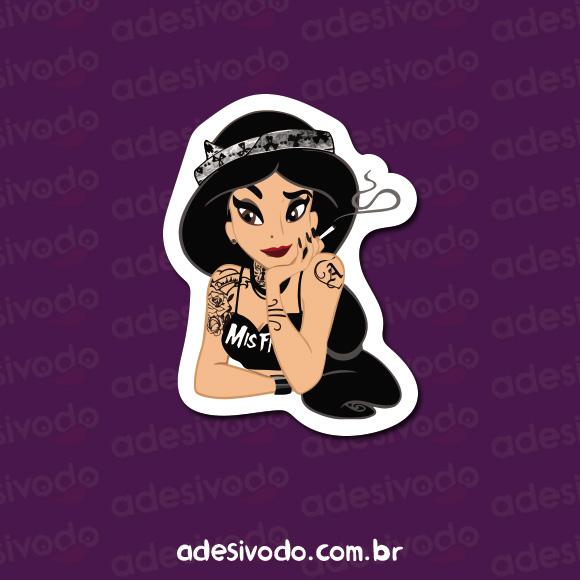 Adesivo da Princesa Jasmine roqueira