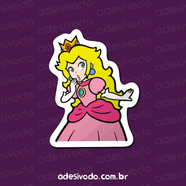 Adesivo da Princesa Peach