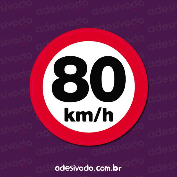 Adesivo de Placa 80 km