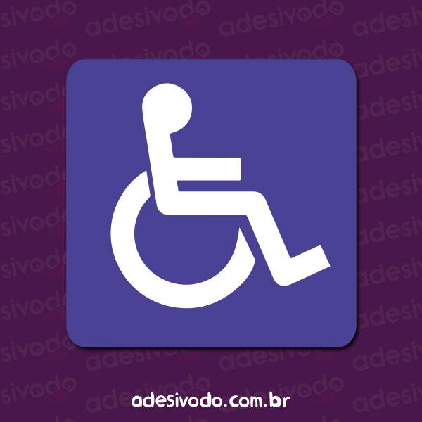 Adesivo de Cadeirante