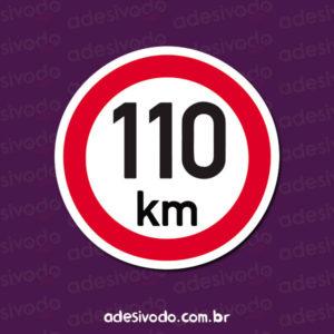 Adesivo de Placa de 110 KM