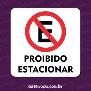 Adesivo de Proibido Estacionar