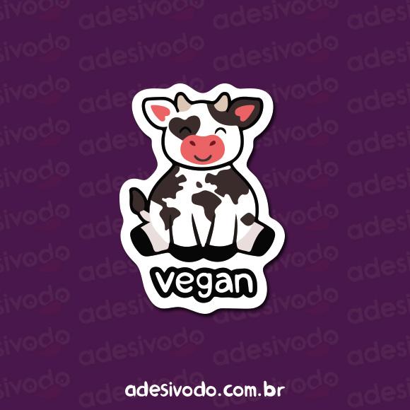 Adesivo de Veganismo Vaca