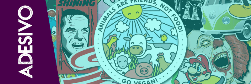 adesivo de veganismo