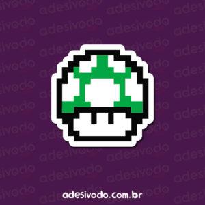 Adesivo do 1UP do Mario