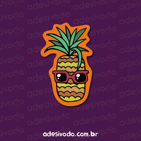 Adesivo do Abacaxi Tropical