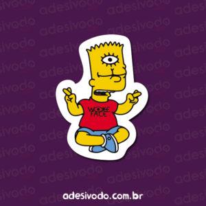 Adesivo do Bart Simpson meditando