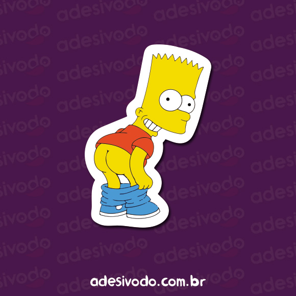 Adesivo do Bart mostrando a bunda