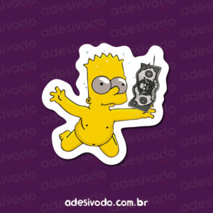 Adesivo do Bart Simpson Nirvana (Nevermind)