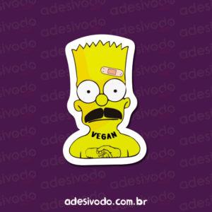 Adesivo do Bart Simpson tatuado vegan