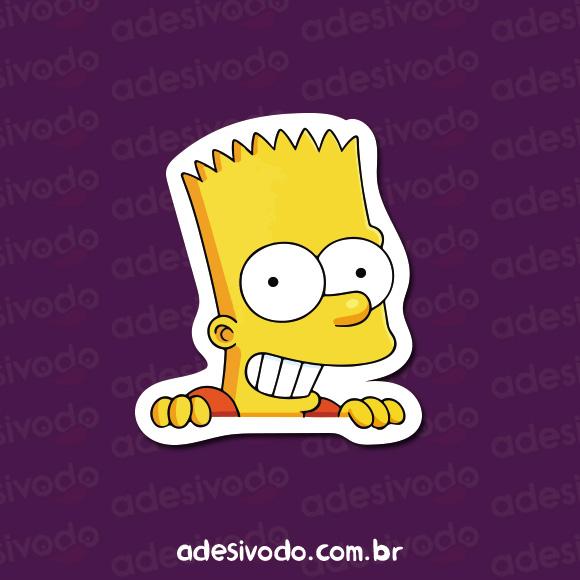 Adesivo do Bart olhando pela janela