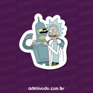 Adesivo do Bender e Rick