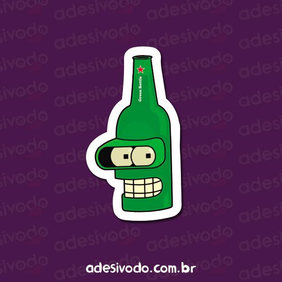 Adesivo do Bender Heineken