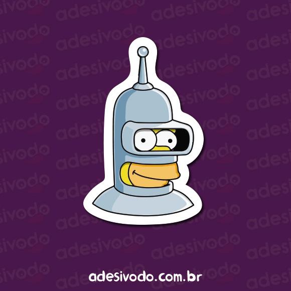 Adesivo do Bender Homer