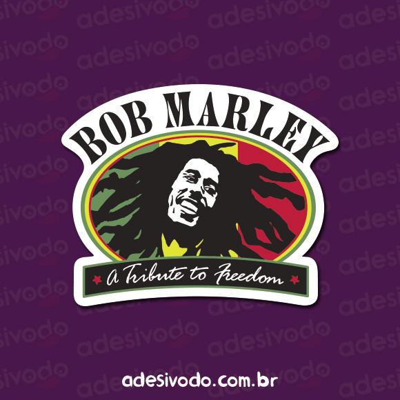 Adesivo do Bob Marley Freedom