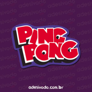 Adesivo do Chiclete Ping Pong
