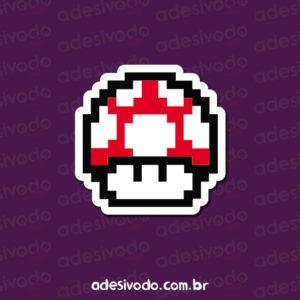 Adesivo do Cogumelo do Super Mario