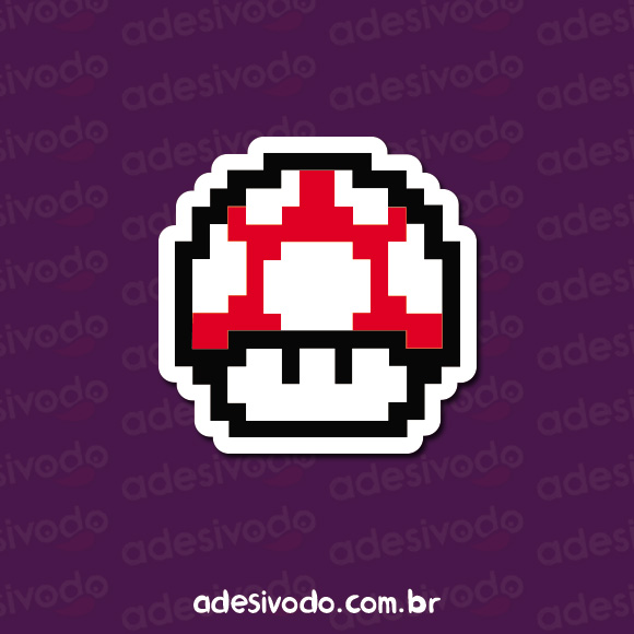 Adesivo do Cogumelo do Super Mario