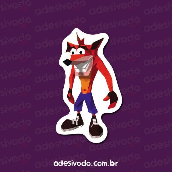 Adesivo do Crash Bandicoot
