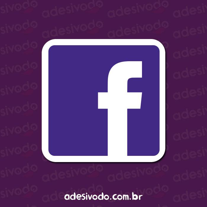 Adesivo do Facebook