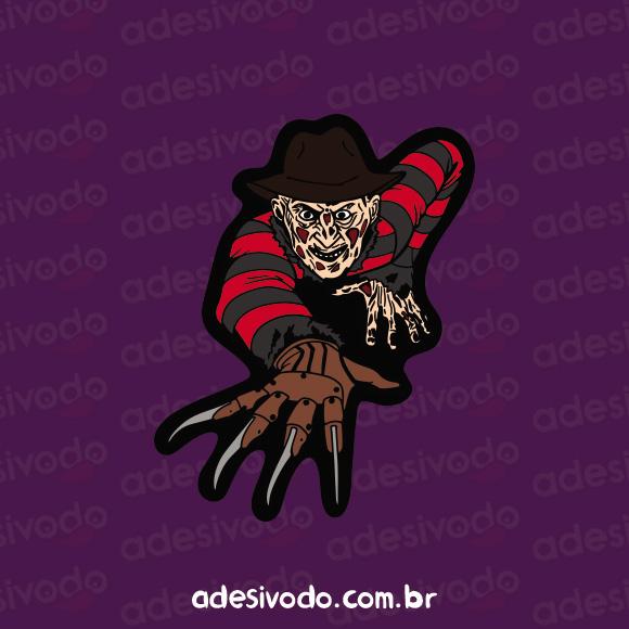 Adesivo do Freddy Kruger