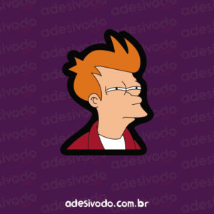 Adesivo do Fry Futurama