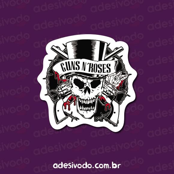 Adesivo do Guns N Roses