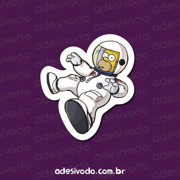 Adesivo do Homer Simpson astronauta