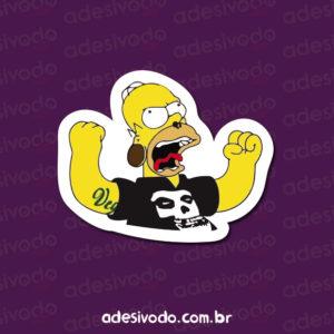 Adesivo do Homer Simpson punk tattoo veg