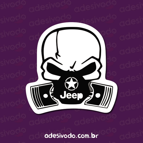 Adesivo do Jeep Caveira