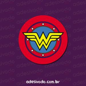 Adesivo do logo Mulher Maravilha