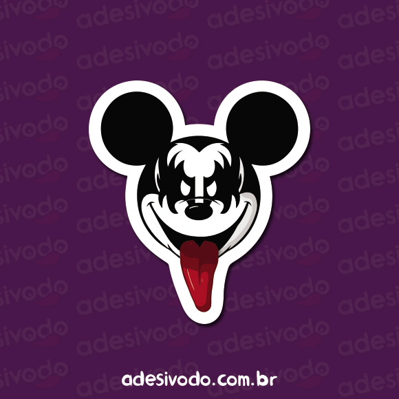 Adesivo do Mickey Kiss