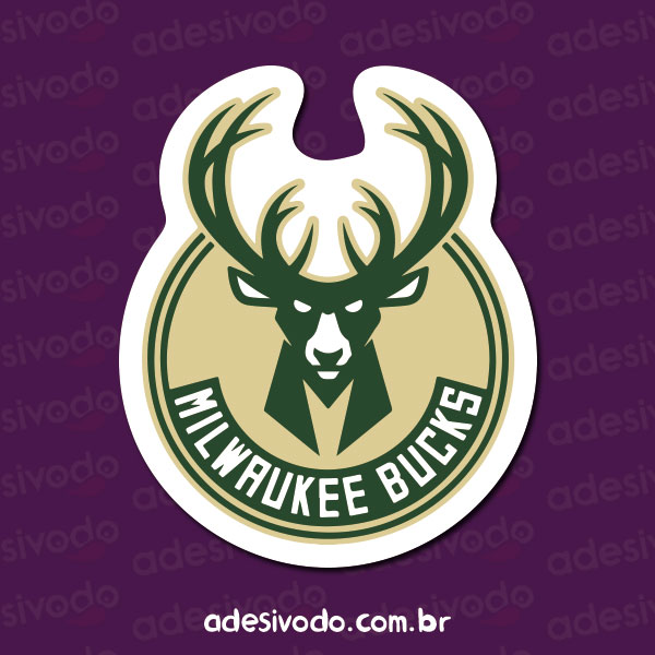 Adesivo do Milwaukee Bucks