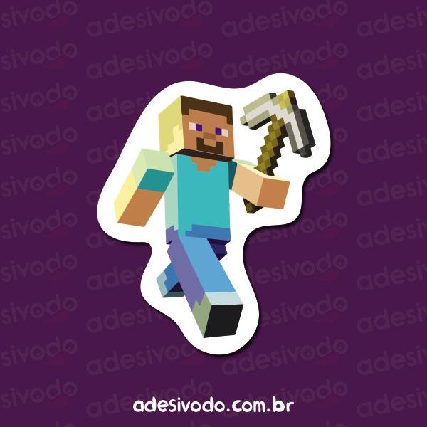Adesivo do Minecraft