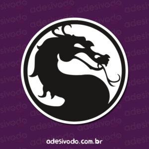 Adesivo do Mortal Kombat logotipo