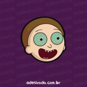 Adesivo do Morty alucinado