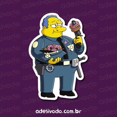 Adesivo do policial dos Simpsons