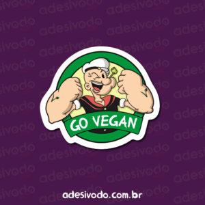 Adesivo do Popeye Go Vegan