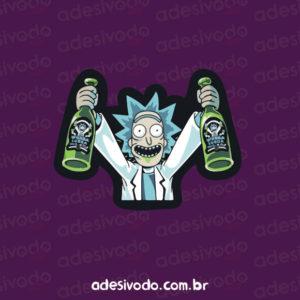 Adesivo do Rick and Morty bebidas