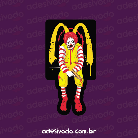 Adesivo do Ronald McDonald Assassino