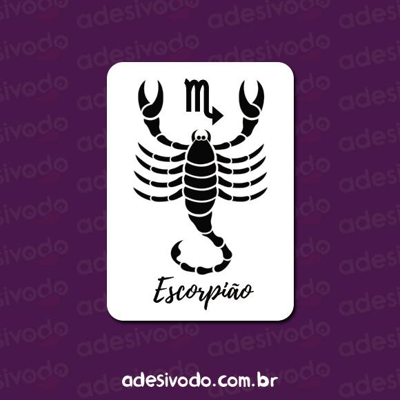 adesivo do signo escorpião